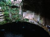 Mayans Ruins, East of Chichen Itza, Into the Cenote, Mexico Photographic Print by Charles Sleicher