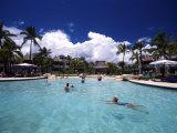 Pool, Sheraton Denarau Villas, Denarau Island, Fiji Photographic Print by David Wall