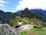 Ruines du Machu Picchu, Pérou Reproduction photographique par Bill Bachmann
