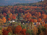 Vermont Town in the Fall, USA Photographic Print by Charles Sleicher