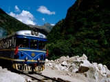 Train Stop for the Machu Picchu Tourist Train, Aguas Calientes, Peru Photographic Print by Cindy Miller Hopkins
