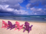 Chairs on the Beach Photographic Print by Bill Bachmann