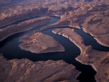 Aerial of Lake Powell, Glen Canyon NRA, Utah, USA Photographic Print by Art Wolfe