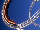 Boardwalk Roller Coaster, Ocean City, Maryland, USA Fotografie-Druck von Bill Bachmann