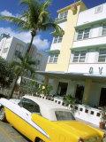 Ocean Drive, Miami Beach, Florida, USA Fotografie-Druck von Bill Bachmann
