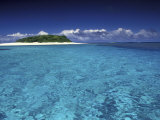 Tonga Islet with White Sand and Ocean Photographic Print by Art Wolfe