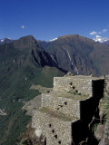 Inca Ruins of Machu Picchu, Huayna Picchu, Peru Photographic Print by Cindy Miller Hopkins