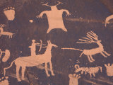 Petroglyphs on Sandstone Rock, Newspaper Rock, near Monticello, Utah, USA Photographic Print by Jamie & Judy Wild