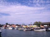 Harbor and Ships, Annapolis, Maryland, USA Photographic Print by Bill Bachmann