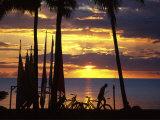 Sunset, Denarau Island, Fiji Photographic Print by David Wall