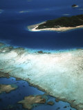 Aerial of Castaway Island, Mamanuca Islands, Fiji Photographic Print by David Wall