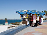 Street Vendor on the Paseo Claussen, Mazatlan, Mexico Photographic Print by Charles Sleicher