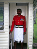 Guard, Former Government House, Suva, Fiji Photographic Print by David Wall