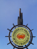 Sign for Fisherman's Wharf, San Francisco, California, USA Photographic Print by Bill Bachmann