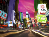 Time Square, New York, New York, USA Fotodruck von Bill Bachmann