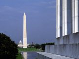 Washington Monument from Lincoln Memorial, Washington, D.C., USA Photographic Print by Bill Bachmann