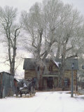 Abandoned House of Nevada City, Montana, USA Stampa fotografica di Charles Sleicher