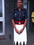 Police Officer, Sigatoka, Fiji Photographic Print by David Wall