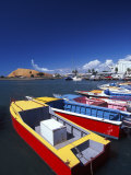Colorful Boats at Queen's Wharf, Lautoka, Viti Levu Photographic Print by David Wall