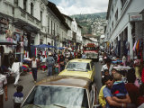 Street Scene in Quito, Ecuador Photographic Print by Charles Sleicher