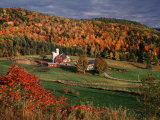 Vermont Farm in the Fall, USA Photographic Print by Charles Sleicher