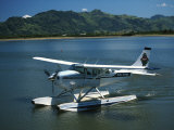 Floatplane, Nadi Bay, Fiji Photographic Print by David Wall