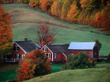Jenne Farm in the Fall, near Woodstock, Vermont, USA Photographic Print by Charles Sleicher