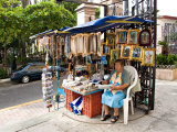 Kiosk Selling Religious Items at the Cathedral, Mazatlan, Mexico Photographic Print by Charles Sleicher