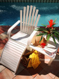 Pool, Chair, Drink, Towel, Hat Photographic Print by Bill Bachmann