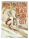 Huntington Beach, Surf City Reproduction procédé giclée