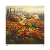 Poppy Fields Giclee Print by Roberto Lombardi