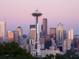 Skyline with Space Needle From Kerry Park, Seattle, Washington, USA Photographic Print by Jamie & Judy Wild
