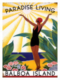 Paradise Living Giclee Print