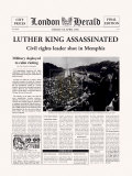 Luther King Assassinated Print