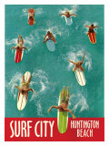 Surf City, Huntington Beach Giclee Print