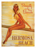 Beauty and the Beach, Hermosa Beach Giclee Print