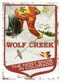 Wolf Creek, The Most Snow In Colorado Impression giclée
