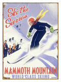 Mammoth Mountain, Ski the Sierras Reproduction procédé giclée