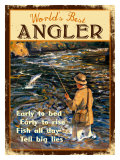 World's Best Angler Giclee Print