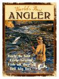 World's Best Angler Giclee Print