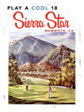 Play a Cool 18, Sierra Star Giclee Print