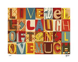 Live Well, Laugh Often Giclee Print by Mj Lew