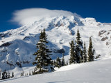 Mt. Rainier after Winter Snowstorm, Mt. Rainier National Park, Washington, USA Photographic Print by Jamie & Judy Wild