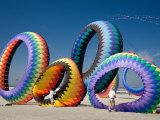 Circoflex Kites, International Kite Festival, Long Beach, Washington, USA Photographic Print by Jamie & Judy Wild