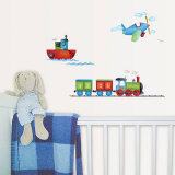 Boats, Trains &amp; Planes Wall Decal