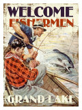 Grand Lake, Welcome Fishermen Giclee Print