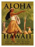 Aloha Hawaii Giclée-tryk