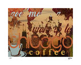 Chicago Coffee Giclee Print by M.J. Lew