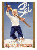 Ski Colorado Rockies Reproduction procédé giclée