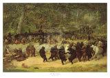La danza degli orsi|The Bear Dance Poster di William Holbrook Beard
